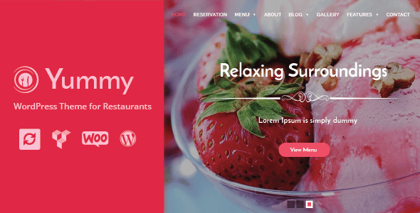 Yummy - Restaurant & Food Ordering WordPress Theme