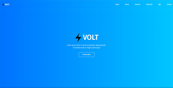Volt – Responsive App & Software Template