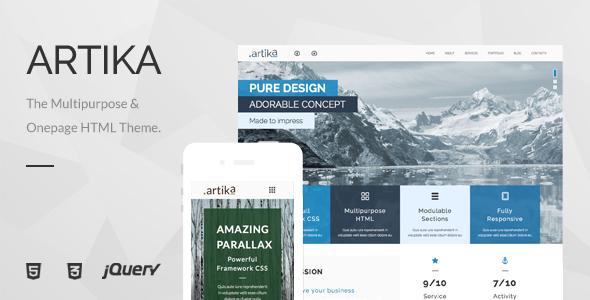 Artika – Multipurpose & Onepage HTML Template
