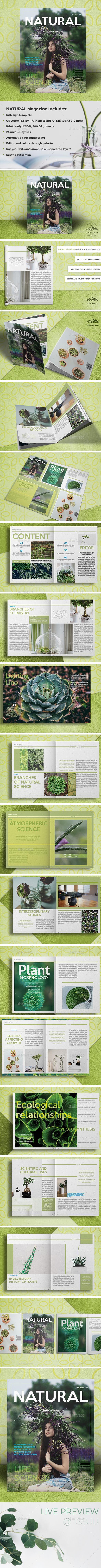 NATURAL Magazine - Magazines Print Templates