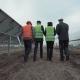 People Walking Away in Solar Panels