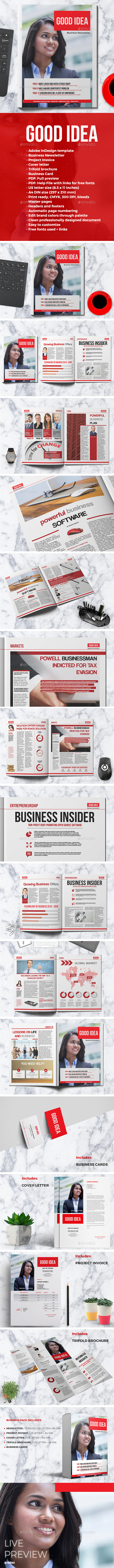 GOOD IDEA Newsletter - Newsletters Print Templates