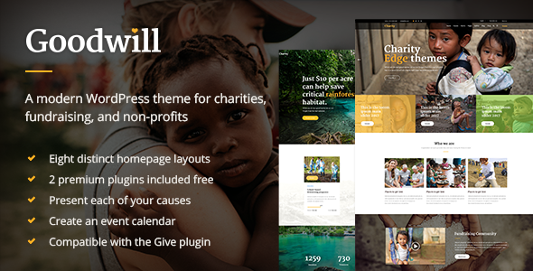 Goodwill – A Multipurpose Charity, Non-profit, and Fundraising Theme