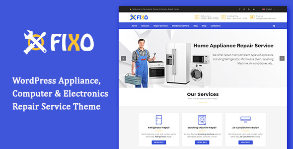 Fixo - Electronics Repair Service WordPress Theme