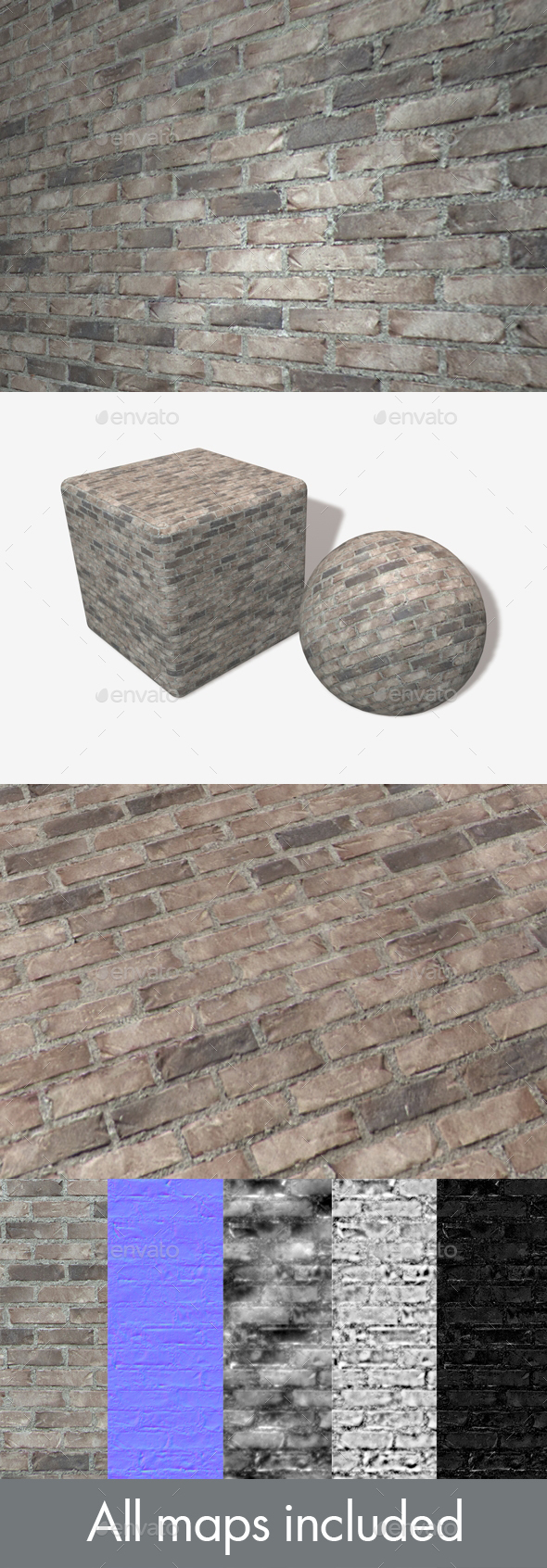 Modern Grey Brick Seamless Texture - 3DOcean Item for Sale