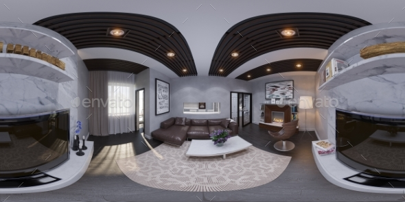 3d Render of the Interior Design of a Living Room - Architecture 3D Renders