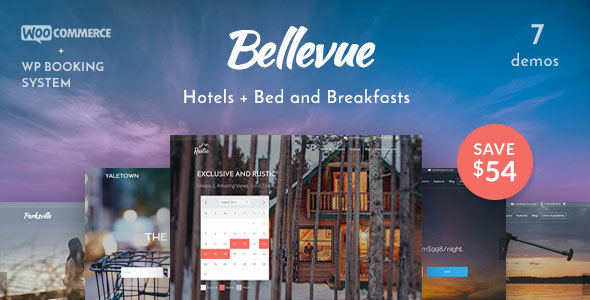 Bellevue Hotel + Bed & Breakfast Booking Theme - Travel Retail