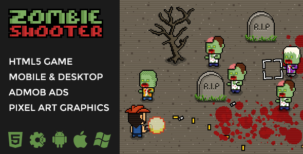 Zombie Shooter - 2D Isometric Action - CodeCanyon Item for Sale
