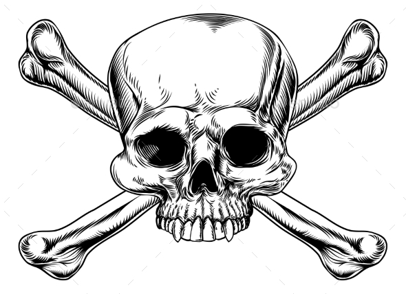Skull and Crossed Bones - Miscellaneous Vectors