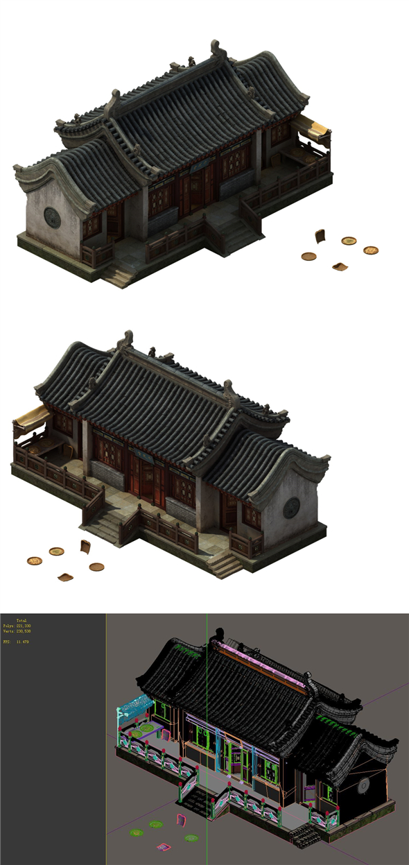 Game model - City pharmacies thousand Chi Church - 3DOcean Item for Sale