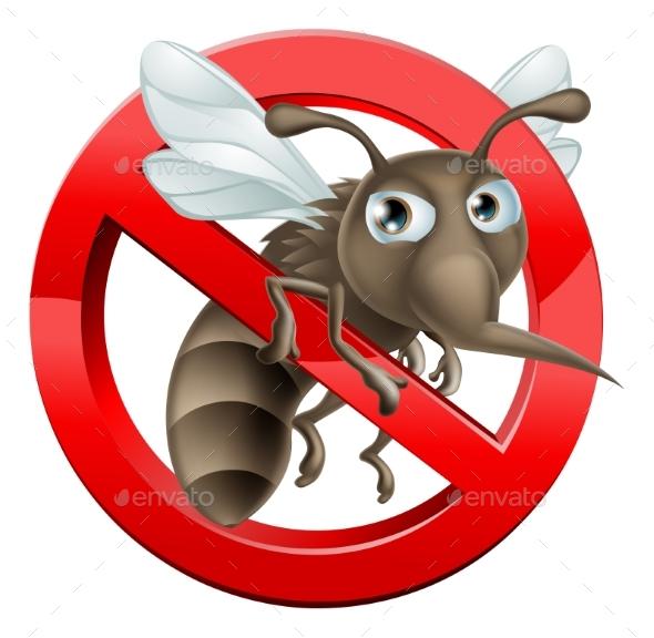 No Mosquito Sign - Miscellaneous Vectors