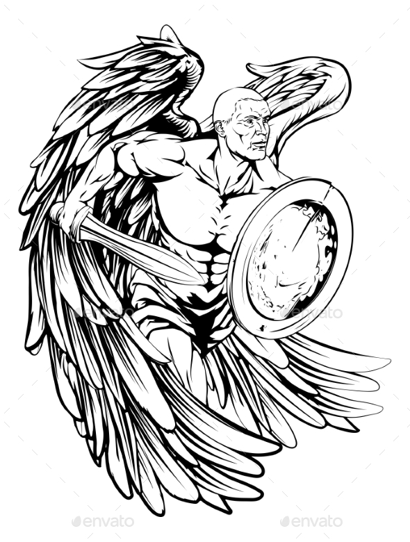 Angel Drawing - People Characters