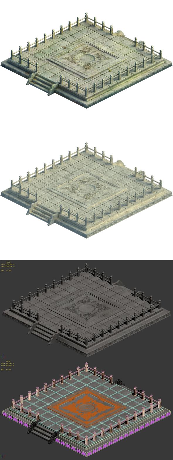 City center - ladder - 3DOcean Item for Sale
