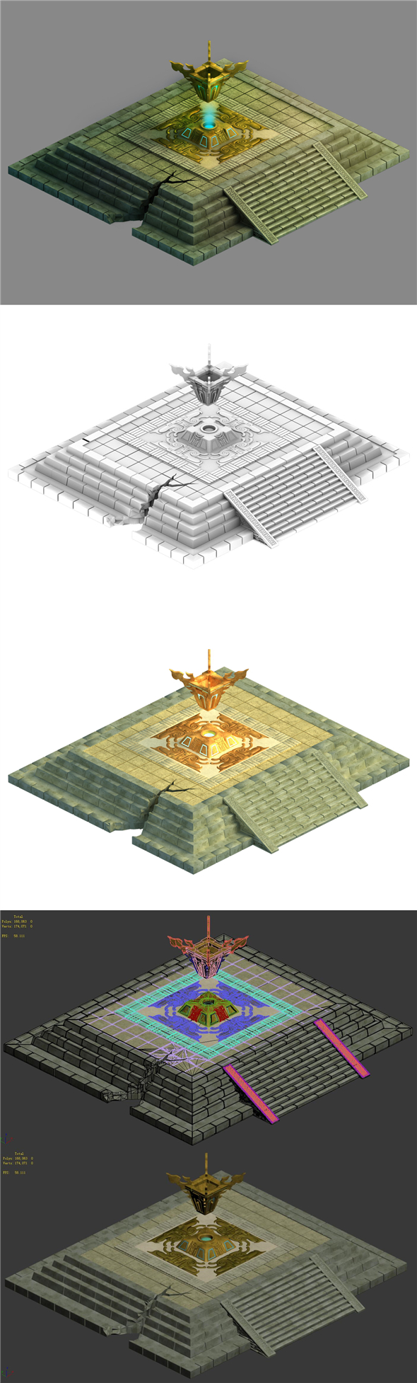 City Center - Rupture Altar - 3DOcean Item for Sale