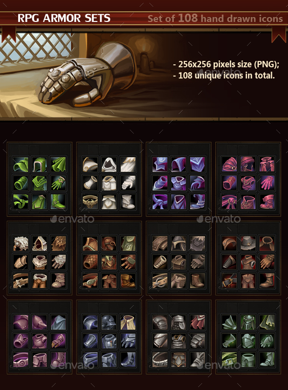 RPG Armor Sets - Miscellaneous Game Assets