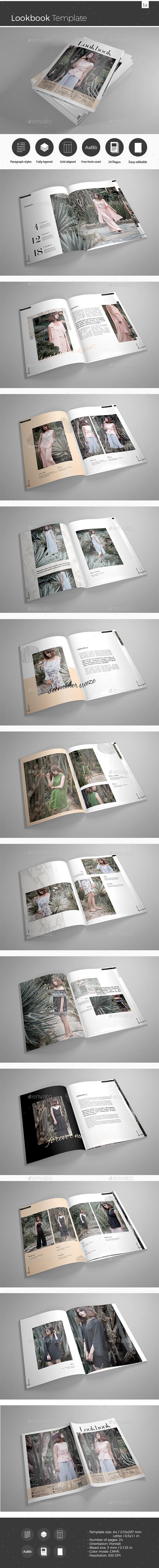 Lookbook Template - Brochures Print Templates