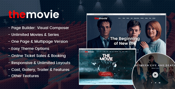 The Movie – Cinema, Film & Series WordPress Theme