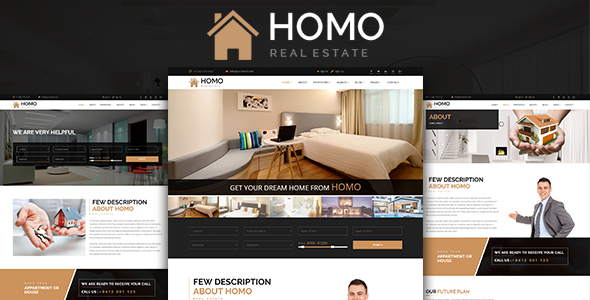 Homo - Real Estate  HTML Template