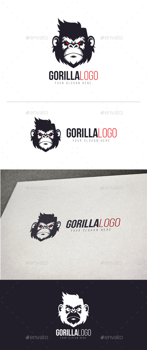 Gorilla Logo - Animals Logo Templates