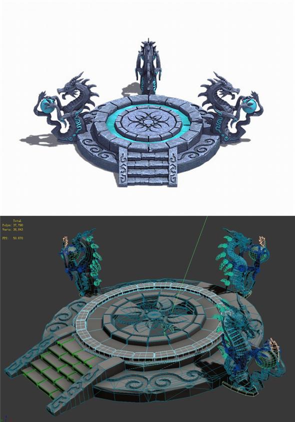 City Center Decoration - Dragon Altar - 3DOcean Item for Sale