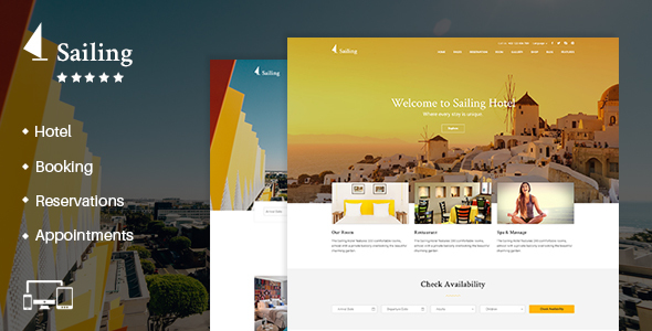 Hotel WordPress Theme | Sailing - Travel Retail