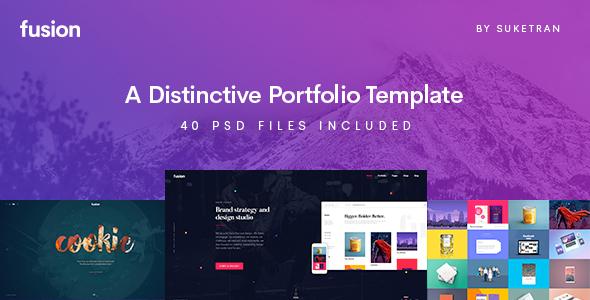 Fusion - A Distinctive Portfolio Template - Portfolio Creative