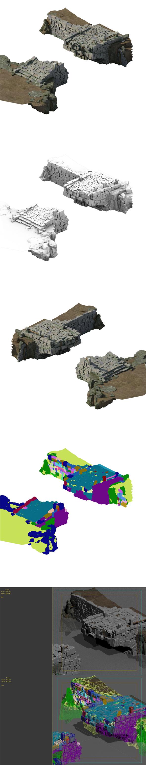 Village - broken stone bridge - 3DOcean Item for Sale