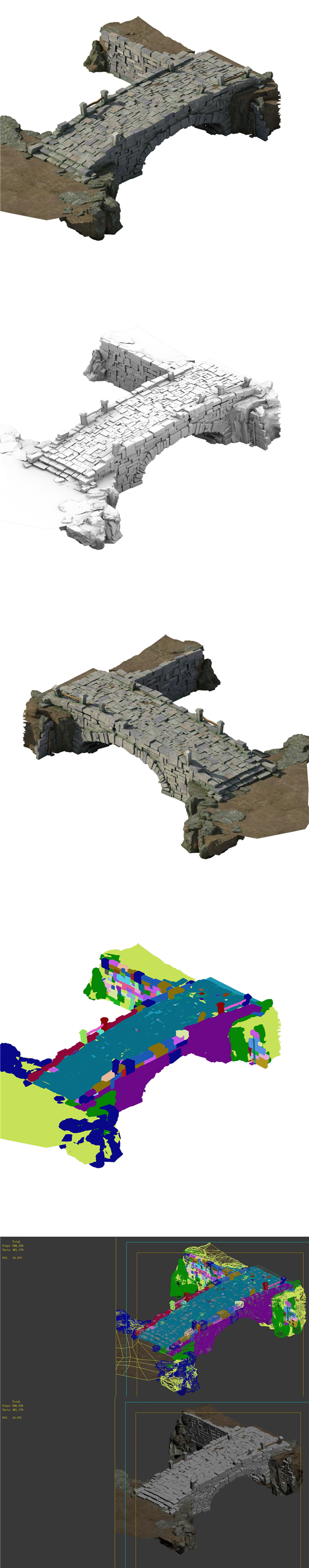 Village - stone bridge - 3DOcean Item for Sale