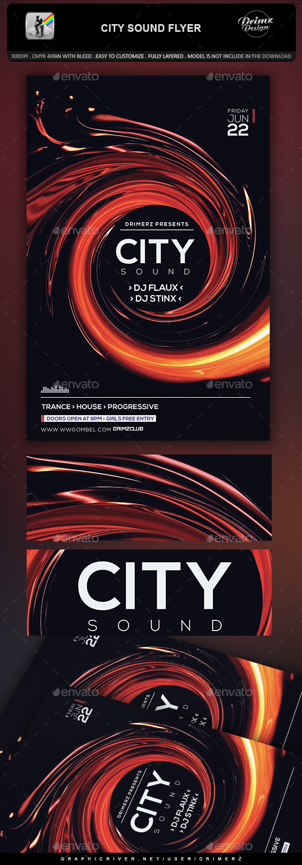 City Sound Flyer - Events Flyers