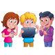 Kids Using Electronic Tablet - GraphicRiver Item for Sale