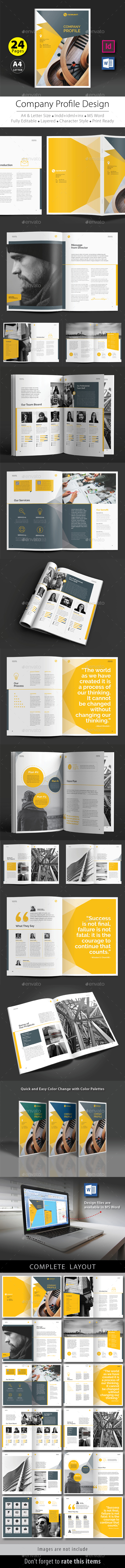 Company Profile Design Template V.6 - Corporate Brochures