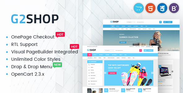Digital eCommerce OpenCart Theme – G2shop