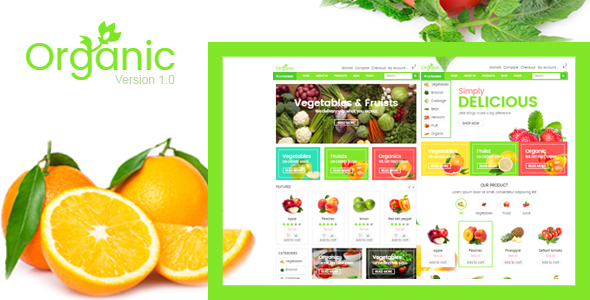 Organic Fruit/Vegetables HTML Template