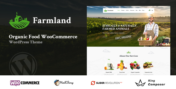 Farmland - Organic Food WooCommerce WordPress - WooCommerce eCommerce