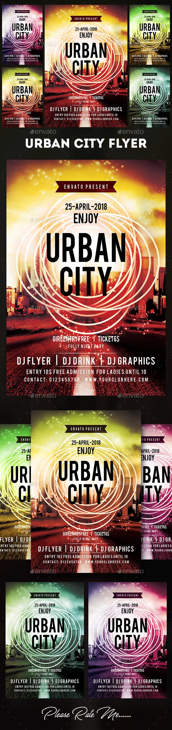 Urban City Flyer - Events Flyers