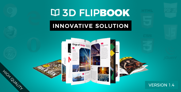 Interactive 3D FlipBook with Physics-Based Animation jQuery Plugin nulled