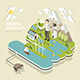 Green Energy Concept - 3d Isometric Flat Design - GraphicRiver Item for Sale