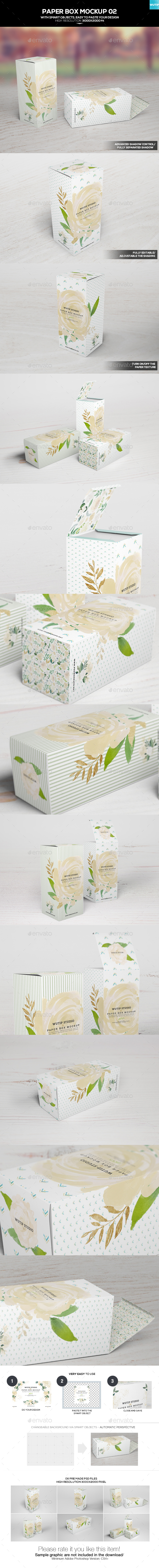 Paper Box Mockup 02 - Food and Drink Packaging