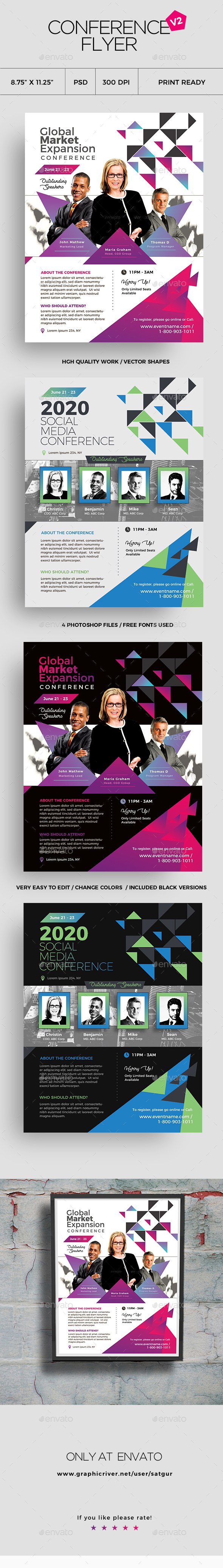 Conference Flyer Template V2 - Corporate Flyers