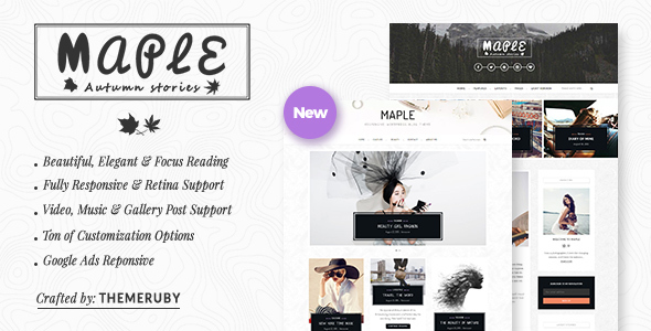 Maple Responsive WordPress Blog Theme