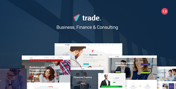 Trade – Business and Finance WordPress Theme