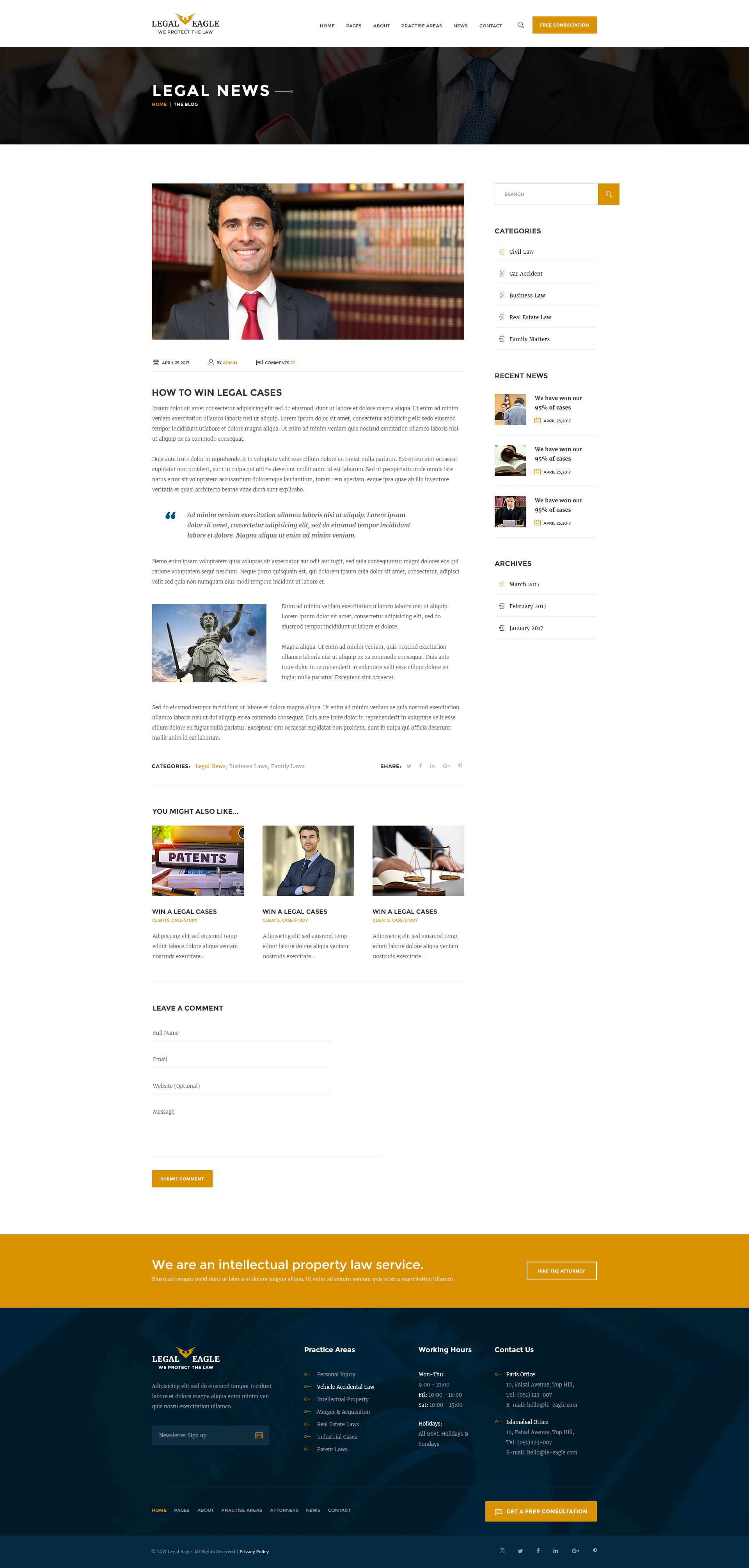 Legal PSD Themes