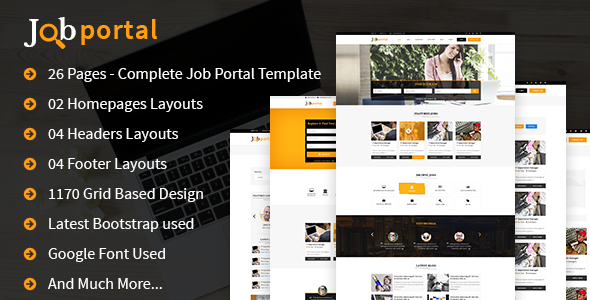 Job Portal HTML Template - Site Templates