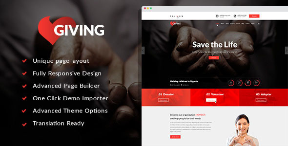 Image of Giving - NGO/Charity/Fundraising WordPress Theme | Charity WordPress