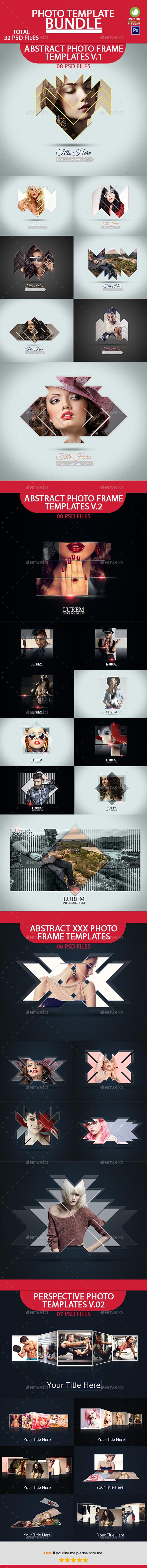 Photo Template Bundle V1 - Photo Templates Graphics