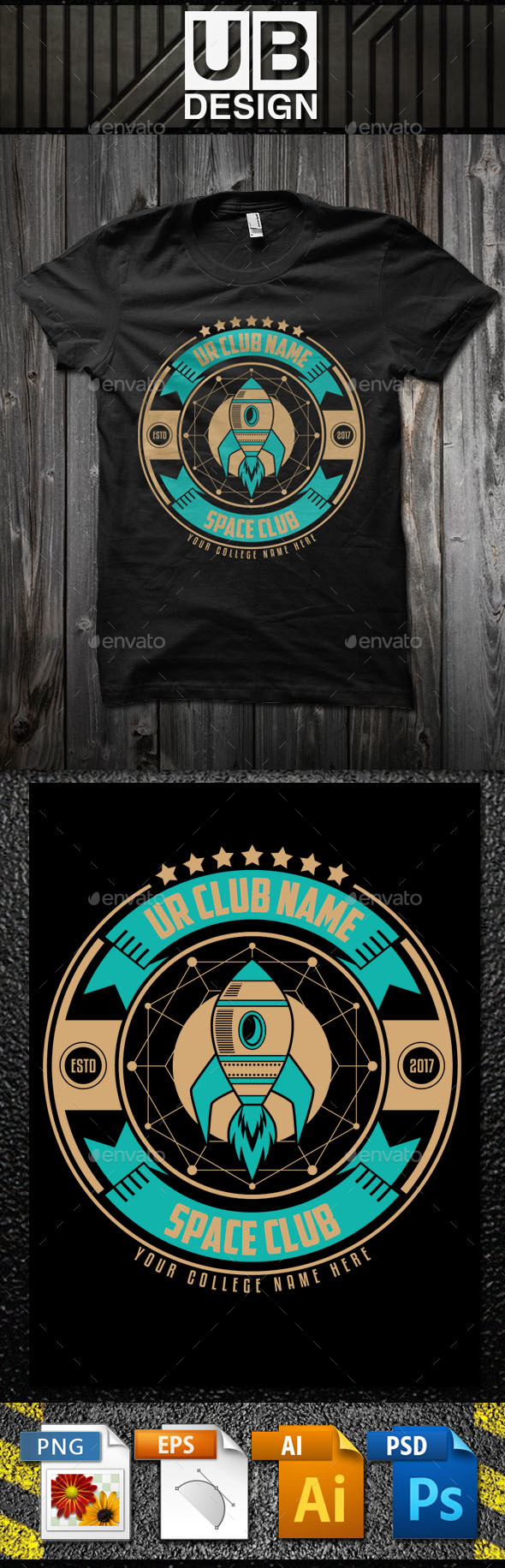 Space Club T-Shirt Template - Academic T-Shirts