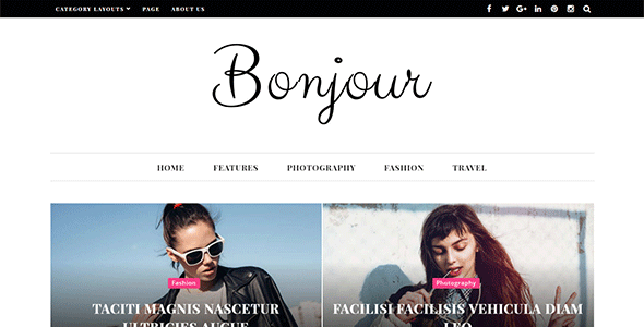 Bonjour – A Perfect WordPress Magazine and Blog Theme