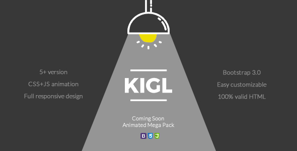 Kigl - Coming Soon Animated Mega Pack - Under Construction Specialty Pages