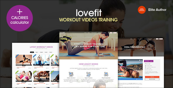 LOVEFIT – Fitness Video Training WordPress Theme