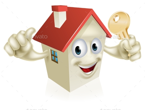 Thumbs Up House with Key - Buildings Objects